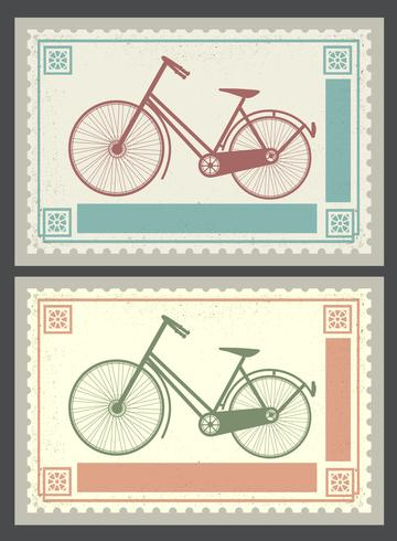 Retro postzegels vector
