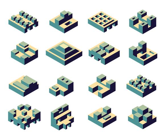 Een set van abstract vector