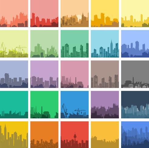 plat stedelijk vector
