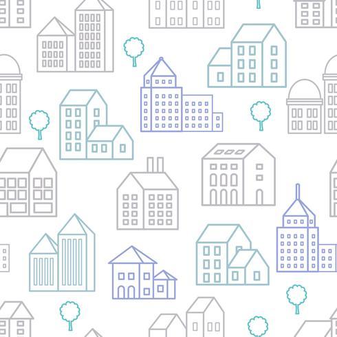 City Line naadloos vector