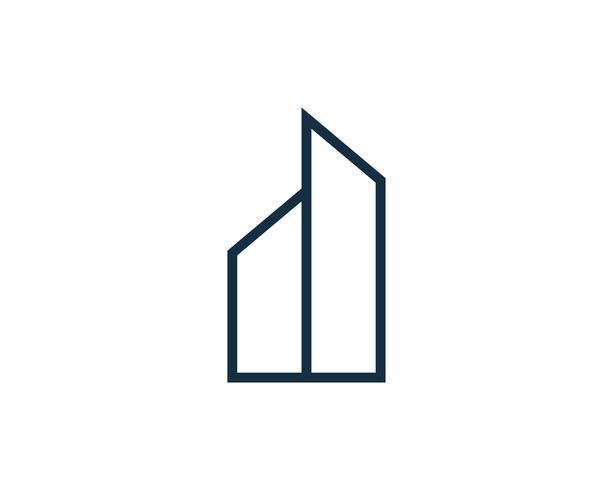 Onroerend goed gebouw Logo pictogram Vector