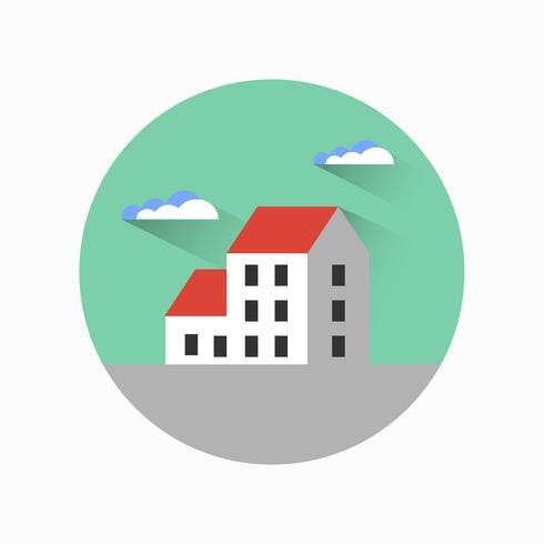 Platte stads stedelijke stijl vector