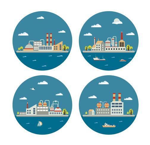 industrieel landschap vector