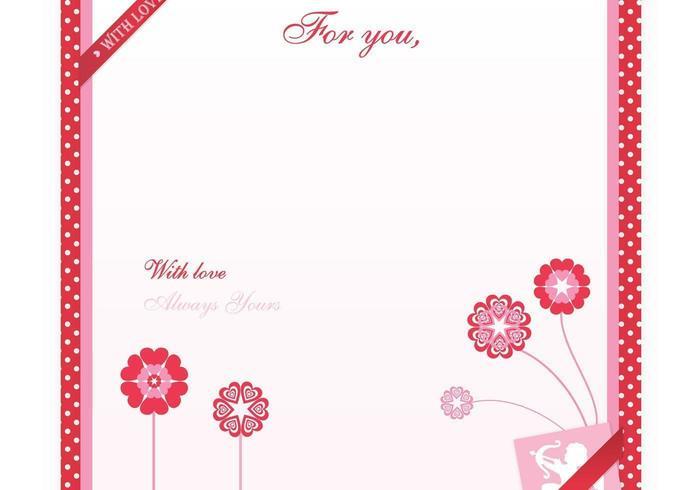 Valentijnsdag Love Letter Vector Wallpaper