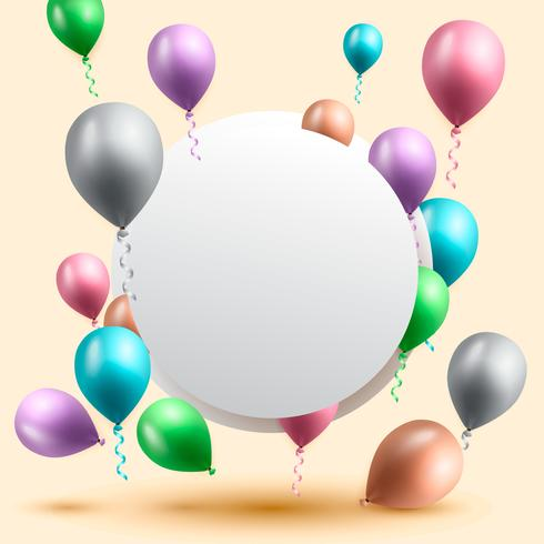verjaardag achtergrond, verjaardag ballon behang vector