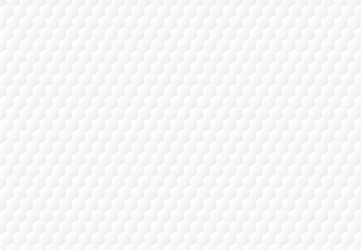 Abstracte witte zeshoek in reliëf gemaakte patroonachtergrond en textuur. vector