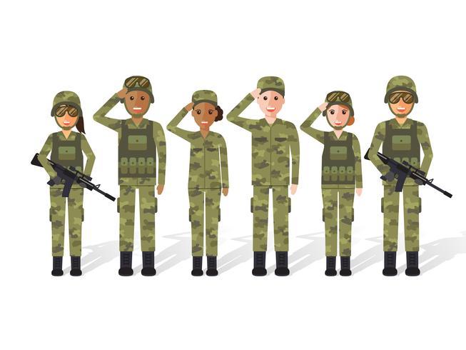 Militaire mensen. vector