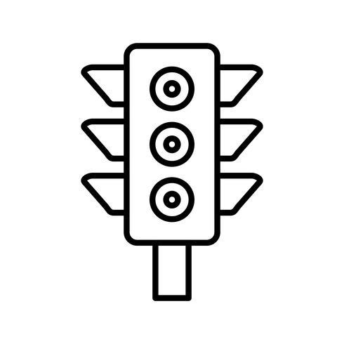 Verkeerslicht Lijn Zwarte pictogram vector