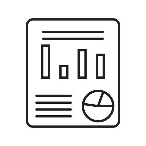 Businessplan lijn zwart pictogram vector
