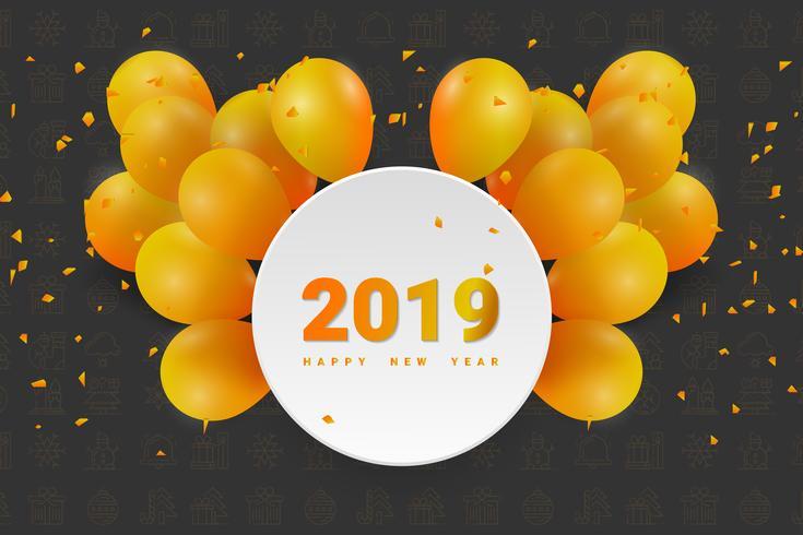 2019 Gelukkig Nieuwjaar of Kerstmis achtergrond. vector