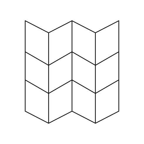Lijn zwart pictogram kaart vector