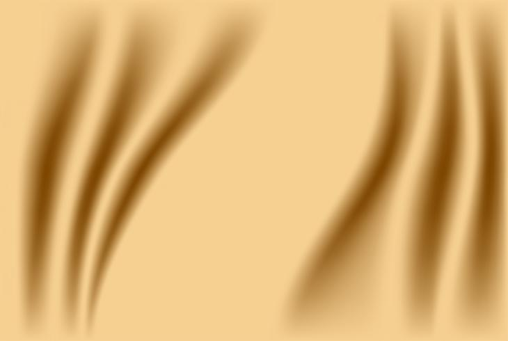 Abstracte stoffenachtergrond. Gouden zijdestof en golfachtergrond. vector