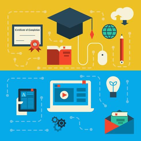 Online onderwijs vector