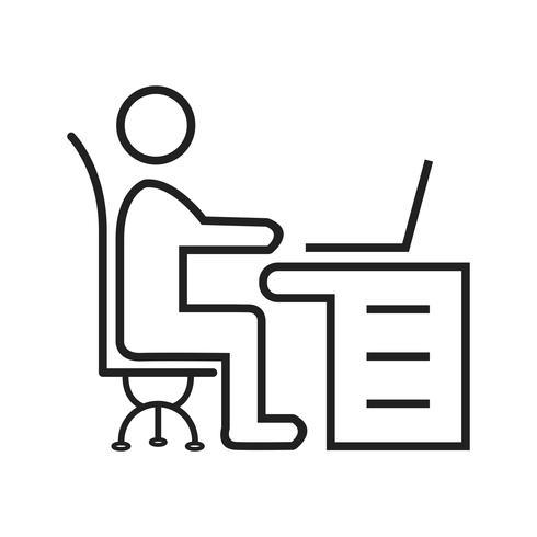 Workspace Workspace lijn zwart pictogram vector
