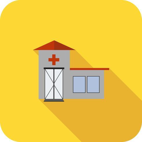 Emergency Room Flat lange schaduw pictogram vector