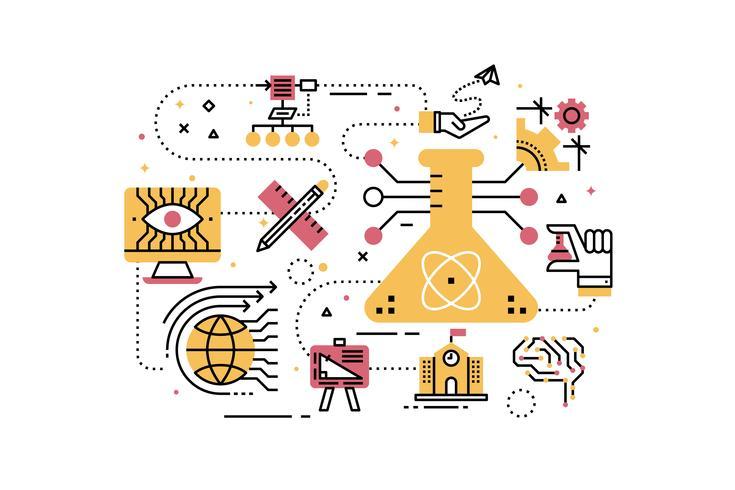 STEM (science, technology, engineering, math) onderwijs vector