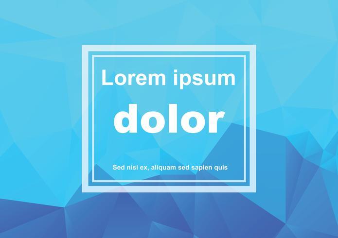 Blauwe witte veelhoekige mozaïek achtergrond, vectorillustratie, creatieve zakelijke ontwerpsjablonen vector