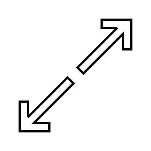 Aanpassen aan lijn zwarte pijlpictogram vector