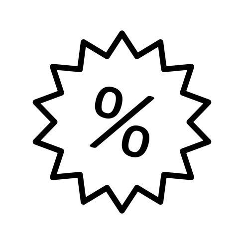 Goedkope label Line Black Icon vector