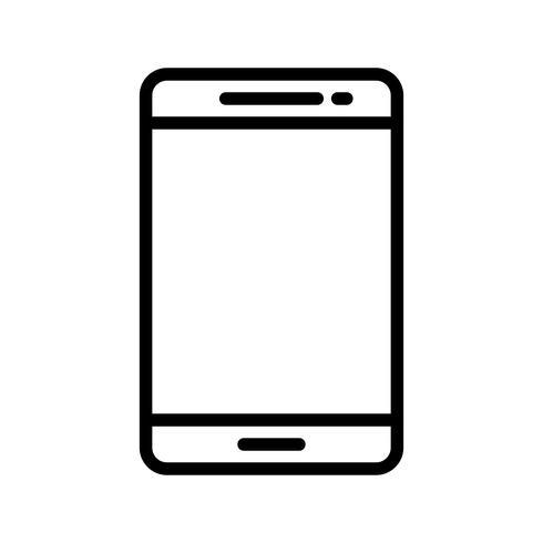 Telefoonlijn zwarte pictogram vector