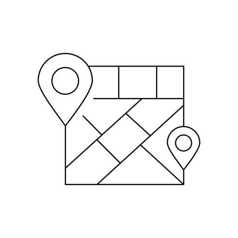 Placeholderlijn zwart pictogram vector