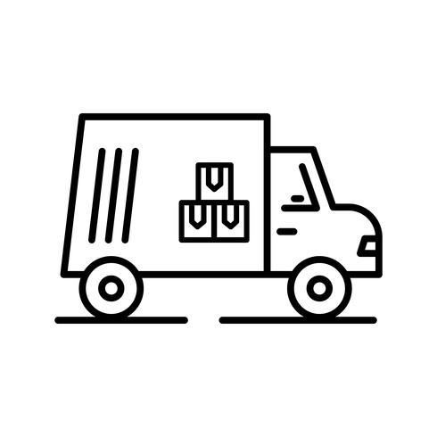 Cargo Line Black pictogram vector