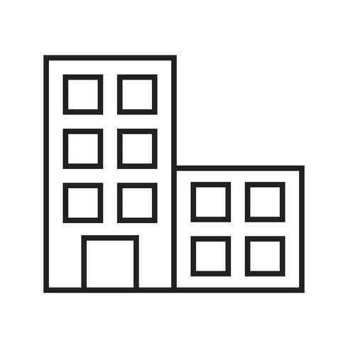 Office lijn zwart pictogram vector