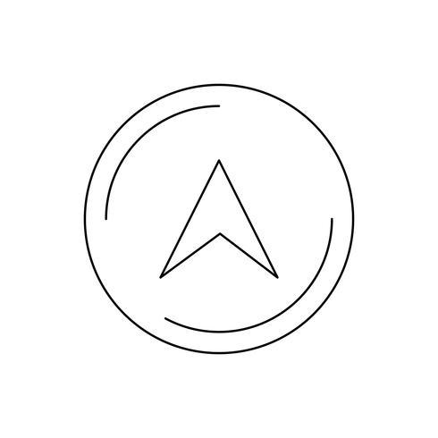 Navigatie lijn zwart pictogram vector