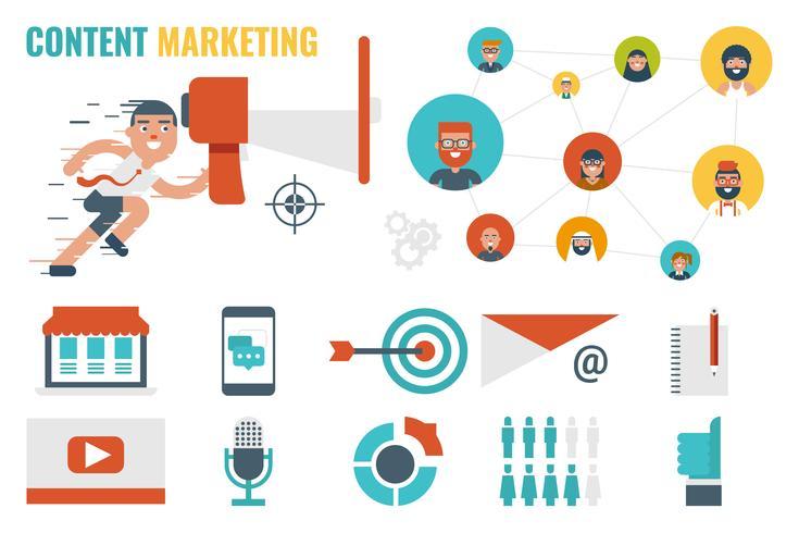 inhoud marketing concept vector