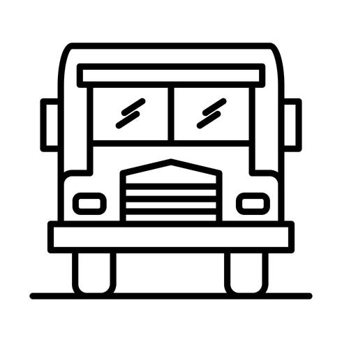 Buslijn zwart pictogram vector