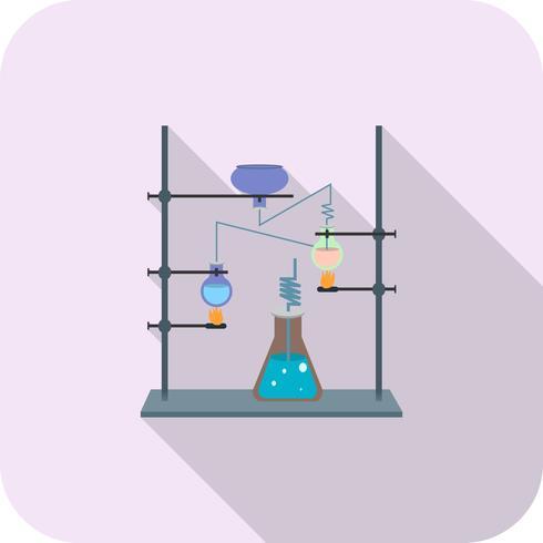 Laboratorium platte lange schaduw pictogram vector