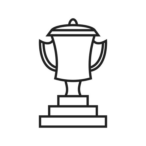 Zakelijke award Line Black pictogram vector