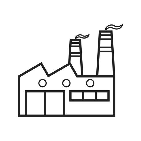 Fabriekslijn zwart pictogram vector