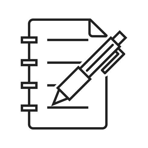 Zakelijke notitie Lijn Black pictogram vector