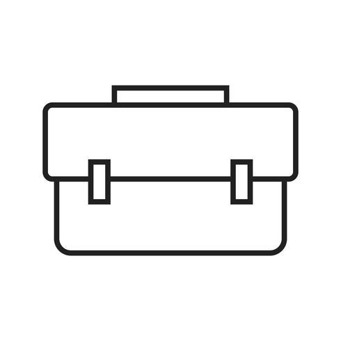 Breifcase lijn zwart pictogram vector