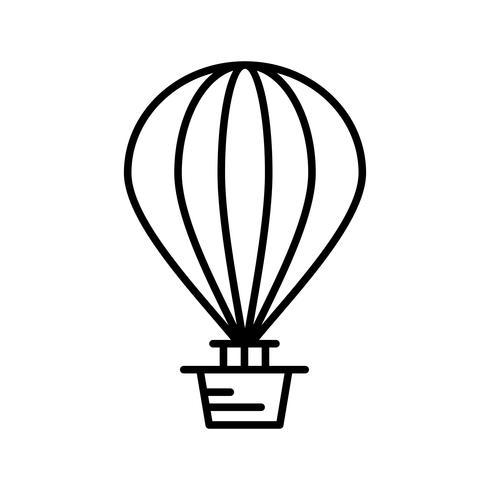 Luchtballon lijn zwart pictogram vector