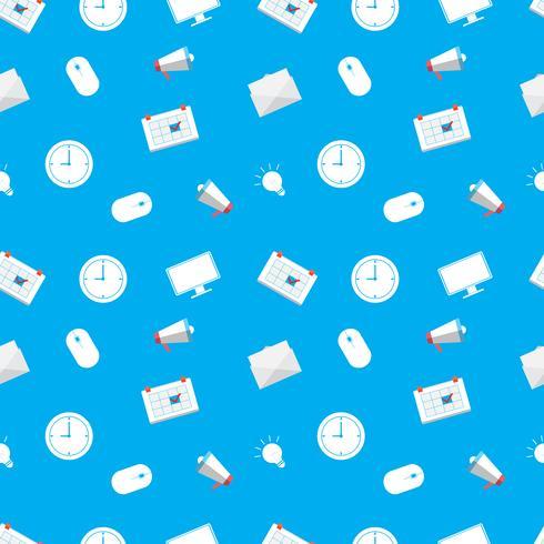 Naadloos patroon met bedrijfs vlak pictogram op een witte achtergrond. Vector herhalende structuur.
