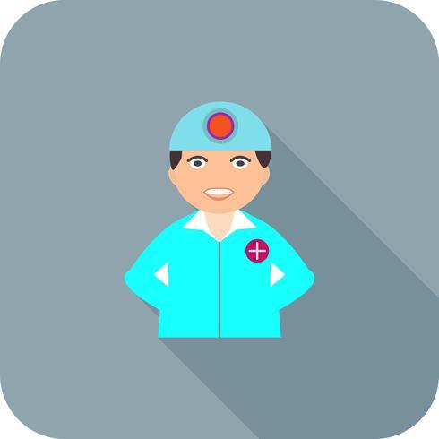 Chirurg platte lange schaduw pictogram vector