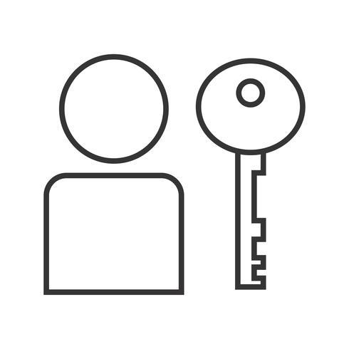 Gebruikersauthenticatie Line Black Icon vector