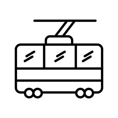 Stoellift lijn zwart pictogram vector