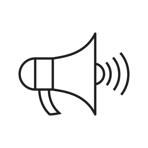 Aankondiging lijn zwarte pictogram vector