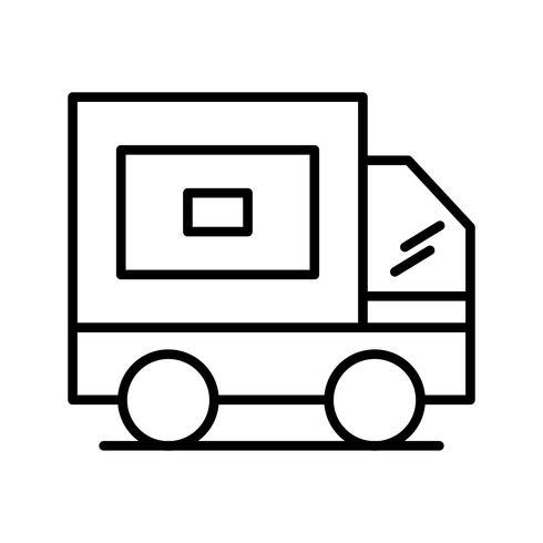 leveringsregel zwart pictogram vector