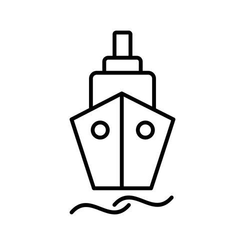 Schip lijn zwart pictogram vector