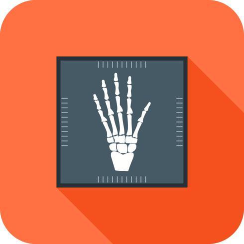 Hand X-ray Flat lange schaduw pictogram vector