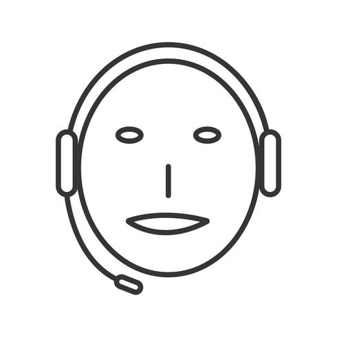 Technische ondersteuning Line Black Icon vector