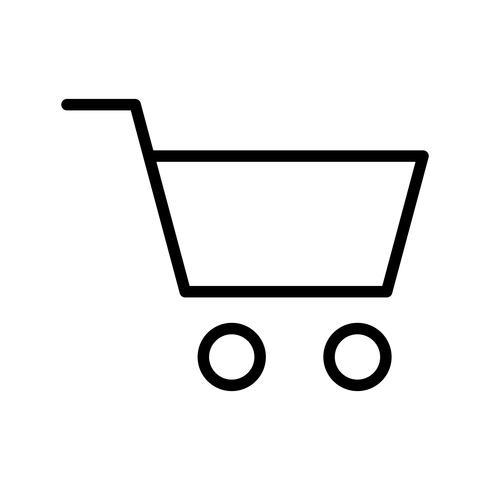 Cart lijn zwart pictogram vector