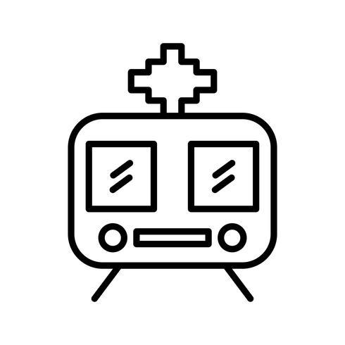 Trein lijn zwart pictogram vector