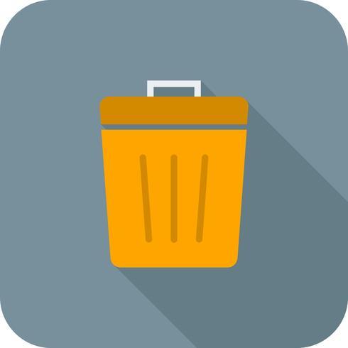 Afval plat lange schaduw pictogram vector