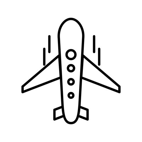 Vlakke lijn zwarte pictogram vector