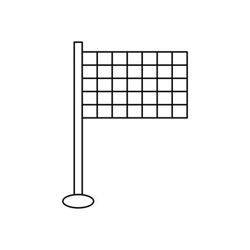 Vlag lijn zwart pictogram vector